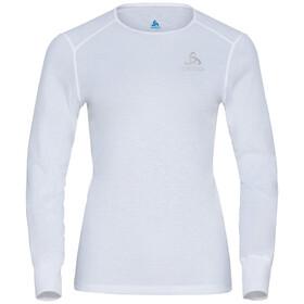 Odlo Active Warm Plus Maglietta girocollo a maniche lunghe Donna, bianco
